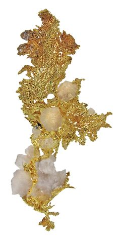 Gold With Quartz...depending on size, this would make an exquisite pendant or brooch.