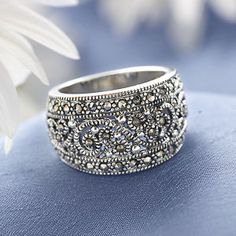 Shimmer Marcasite Ring Best Ing Gifts Clothing Accessories Jewelry And Home Décor