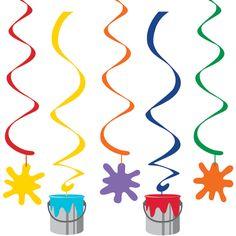 Art Party Dangling Swirl Cutouts (5)