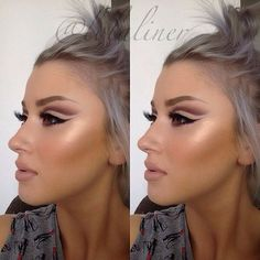 Love the contouring and cut crease.