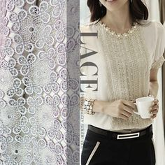 90cm wide light grey water soluble thickening embroidery three-dimensional flowers lace fabric material $34,99