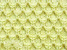 Mock Honeycomb knitting stitch pattern. Used knit and purl sts, slip stitch wyif and knit uls