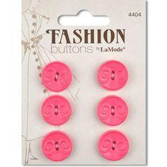 """Fashion Buttons - Pink Swirls - 3/4"""""""