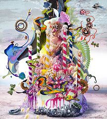 2nd Wonderland collaboration with digital artist Archan Nair. Kirsty Mitchell Photography
