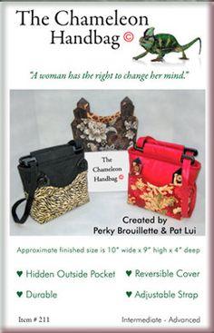 Chameleon Handbag Pattern by OriginalsbyPatLui on Etsy, $12.00