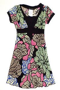 Girls Size 7 Too Chic Funky Flower Print Dress, Polyester Spandex Blend