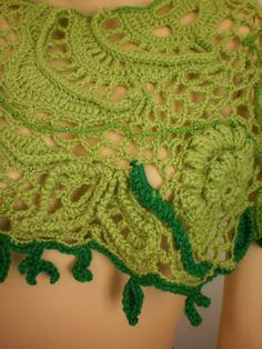 Freeform Crochet Capelet Poncho Lace от levintovich на Etsy