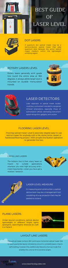 A laser level is the most valuable helping hand of the architect that enable them to get accurate measurement and distance. Also, it is very easy to equipment also available in a variety of designs and models.