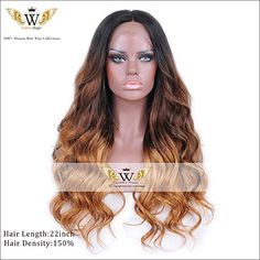 6A Virgin Hair 150 Density Nature Ombre Human Hair Lace Front Wigs With Baby Hair Human Hair Wigs Full Lace Wigs For Black Woman (24Inch Lace Front)