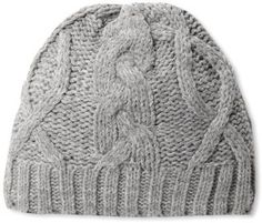 Dearfoams Women's Cable Knit Skull Cap with Microfleece Lining at ShopStyle