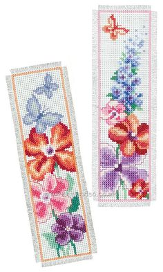 Buy+Summer+Bouquet+Bookmarks+Cross+Stitch+Kit+Online+at+www.sewandso.co.uk