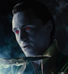 Loki's true nature as a Frost Giant, BUT do notice he ONLY appears in this form when he interacts with something from Jotunheim: such as being touched by one of the giants or holding the casket.  Otherwise, he does NOT look this way EVER!