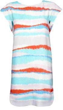 Cacharel Blue Print Cap Sleeve Dress
