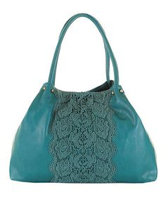 Teal Lace Callie Tote by Darling on #zulily