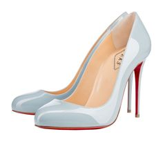 christian louboutin metallic new simple pumps
