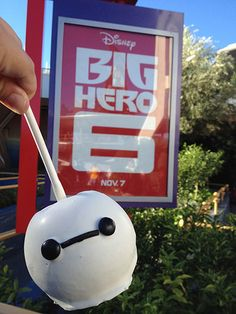 Baymax Joins the Ranks of Caramel Apples at the Disneyland Resort Looks like we'll be having a movie viewing party when the blu-ray comes out, just so we can try to make these!