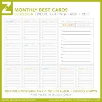 Monthly Best Cards Brushes and Stamps