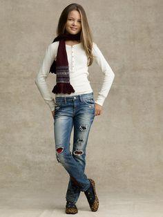 Patchwork Skinny Jeans
