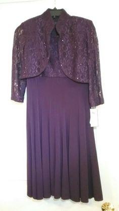 2555e966de Jessica Howard 4P New Dillard s Eggplant Royal Purple Plum Mother s Formal  Dress - dillards dresses