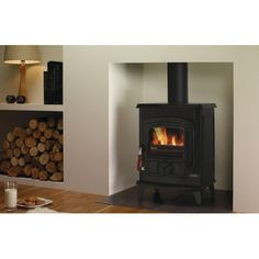 Stove ideas - Stove Waterford Stanley Oscar Solid Fuel 7 Kilo Watt - Without Boiler Living Room Storage, Home Living Room, Interior Design Living Room, Living Room Decor, Kitchen Living, Log Store Indoor, Indoor Log Storage, Log Burner Living Room, Living Room With Fireplace