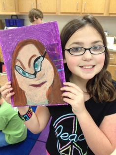 This Picasso inspired portrait project was done with a couple of my 4th grade classes. I used my MacBook Pro Photo Booth app to take distor...