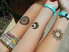 coolTop Friend Tattoos - Best friend tattoos, henna tattoos, moon tattoo, sun tattoo, mandala tattoo...