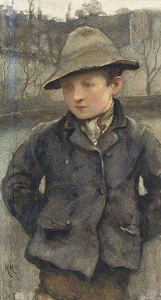 Sir Hubert von Herkomer - Boy wearing a hat.jpg