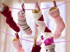 Christmas socks for advent Christmas Calendar, Christmas Wishes, Christmas Holidays, Advent Calendar, Winter Holidays, Merry Christmas, Sock Display, Happy Birthday Jesus, Christmas Projects