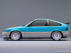 Honda CRX | Honda CRX Gulf Special Edition | photoshop chop © Sebastian Motsch ...