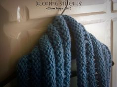 My new Cowl!!! :D Hand Knit, pattern free on Ravelry.