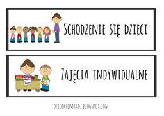 Plan dnia w przedszkolu z obrazkami do pobrania. Preschool, Education, Logos, Decor, Therapy, Decoration, Kid Garden, Logo, Kindergarten