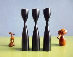 Dänemark+Holz+Vintage+Kerzenständer+50er+60er++von+ILoveSparrows+auf+DaWanda.com