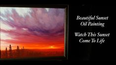 Beautiful Sunset Painting in Oil Time Lapse by artist Tim Gagnon Oil Painting Lessons, Oil Painting For Sale, Painting Videos, Painting Tools, Online Painting, Colouring Techniques, Painted Paper, Beautiful Sunset, Art Lessons