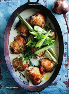Roasted Green Chicken Curry via Donna Hay #recipe