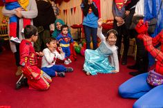 Fun and party games at a Super Hero party