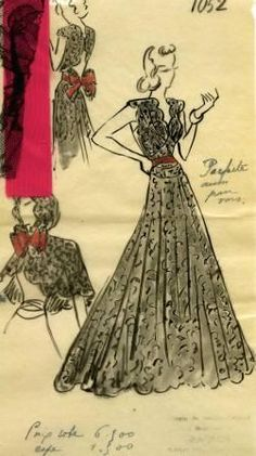 it was good to be Doris Duke -- at least sartorially -- check out this illustration of a Paquin dress that was made for her: