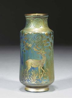An Arts & Crafts Vase   PILKINGTON ROYAL LANCASTRIAN, decorated by Richard Joyce,  impressed and painted marks for 1917