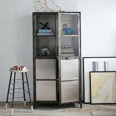 Antique Finish Element Cabinet #westelm