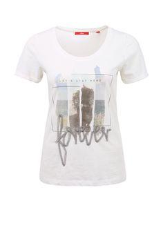 Sommerliches Shirt mit Pailletten von s.Oliver. Entdecken Sie jetzt topaktuelle…