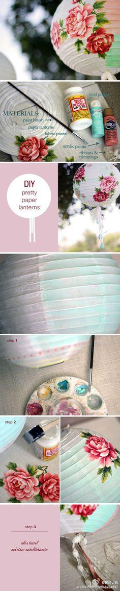 DIY beautiful Chinese Lantern ♡ #China