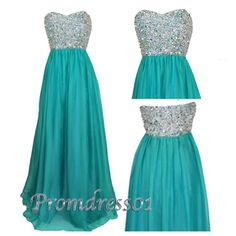 2015 sweetheart beaded green long prom dress for teens, ball gown, homecoming