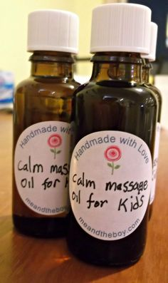 What an amazing item on Etsy - children's massage oil, perfect for those with sleep issues, adhd, autism and anxiety