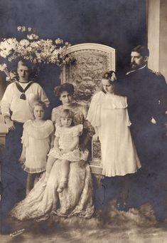 ❤  1913, Regele Ferdinand I împreună cu familia