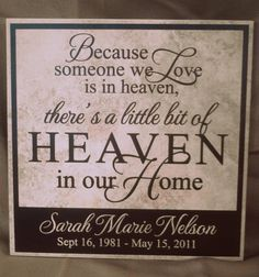 Because some we love... vinyl decal on ceramic tile