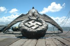 "bmashina: ""The eagle with the swastika with the German pocket battleship Graf Spee raised on 15 October on the spot death of the ship near the capital of Uruguay is Montevideo, at the mouth of the river La Plata "" Montevideo, Francisco Miranda, Germany Ww2, History Online, Modern History, Battleship, World War Two, Historical Photos, Wwii"