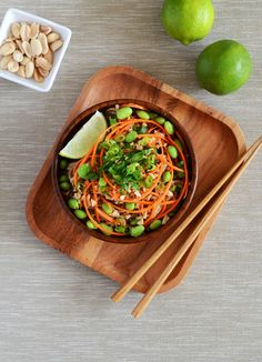 Peanut and Lime Soba Noodles