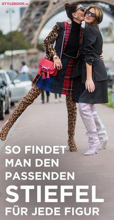 Spitze Ankle-Booties, hautenge Overknees oder derbe Schnürstiefel? STYLEBOOK zeigt vier angesagte Stiefel- und Ankle Boots-Modelle, die das Beste aus Ihrer Figur herausholen. Keine Sorge, für jedes gestiefelte Mode-Kätzchen gibt's den passenden Schuh.