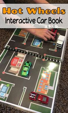 This interactive Hot Wheels car book is a great addition to any car lovers toy chest!