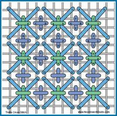 Trellis Cross Stitch