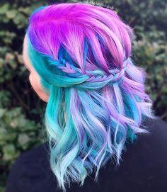 @thehairstylish #pulpriot #unicornhair #pastel #brighthair
